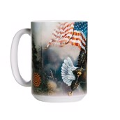 Flag Bearing Eagle Ceramic mug