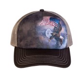Flag Bearing Eagle Trucker Cap