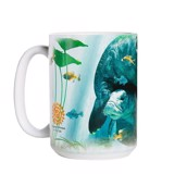 Manatees Collage Ceramic mug
