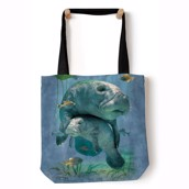 Manatees Collage Tote Bag