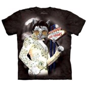 T-shirt med Elvis Presley i katt-version