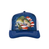 Patriotic Bass Trucker Cap