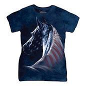 Patriotic Horse head ladies t-shirt