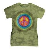 Peace Tie-Dye ladies t-shirt