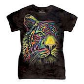 Rainbow Tiger ladies t-shirt