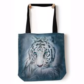 Thoughtful White Tiger Tote Bag