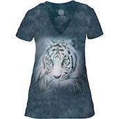Thoughtful White Tiger Tri-Blend T-shirts