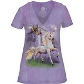 Unicorn Castle Tri-Blend T-shirts