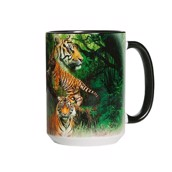 Wild Tiger Collage Ceramic mug