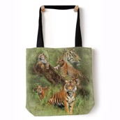 Wild Tiger Collage Tote Bag