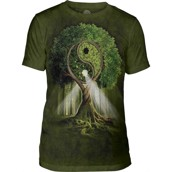 Yin Yang Tree Mens Triblend Tee