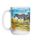 Zebra Gathering Ceramic mug